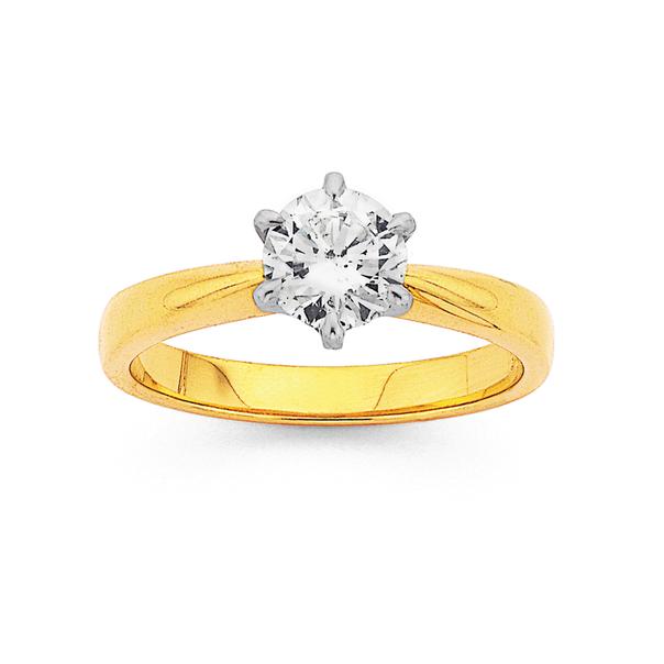 18ct, 1ct Diamond Solitaire Ring