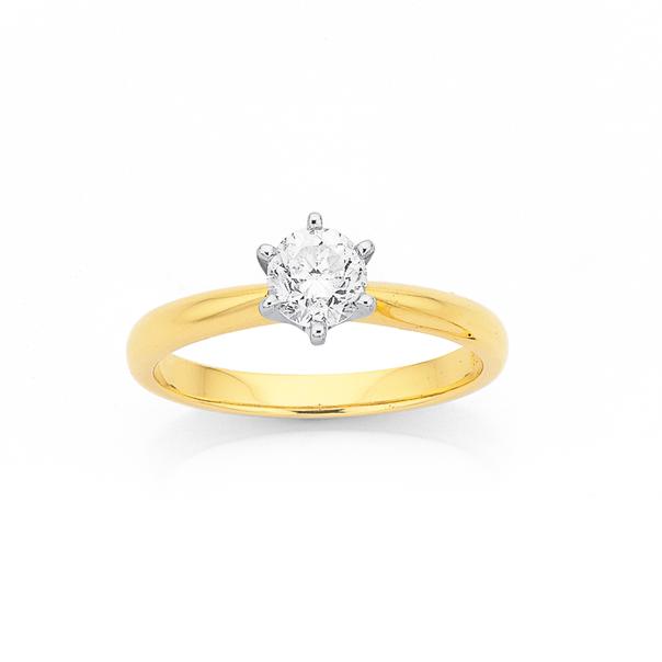 18ct, Diamond Solitaire .70ct