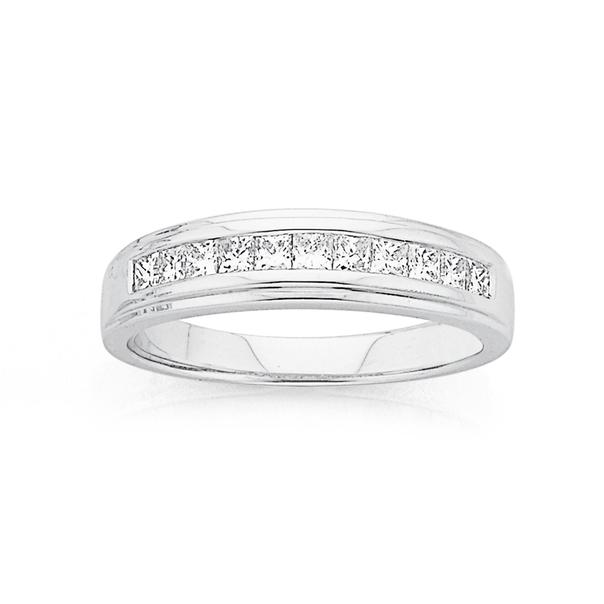 18ct, White Gold Diamond Eternity Ring Total Diamond Weight=.50ct