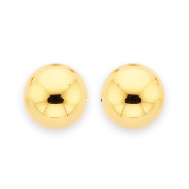9ct 10mm Ball Stud Earrings