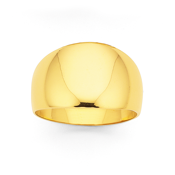 9ct 12mm Dome Ring