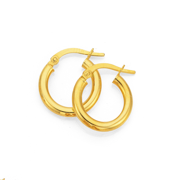 9ct 15mm Polished Hoops