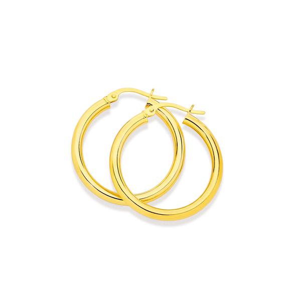 9ct 25mm Polished Hoop Earrings