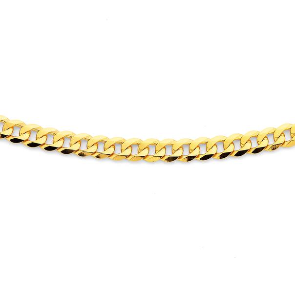 9ct 45cm Bevelled Cuban Link Chain