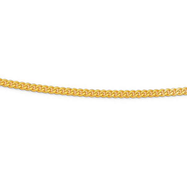 9ct 45cm Diamond Cut Curb Chain
