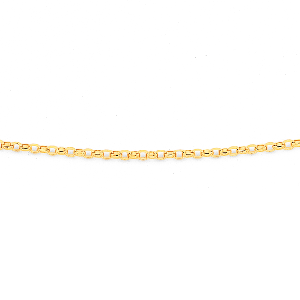 9ct 45cm Fine Oval Belcher Chain