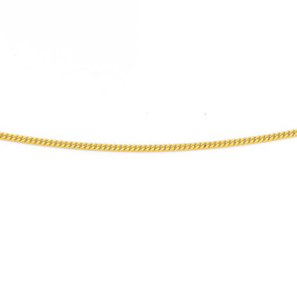 9ct 50cm Diamond Cut Curb Chain