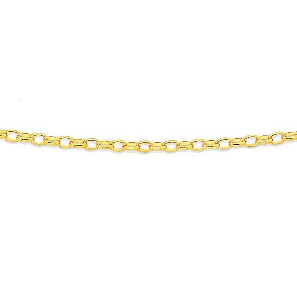 9ct 50cm Oval Belcher Chain