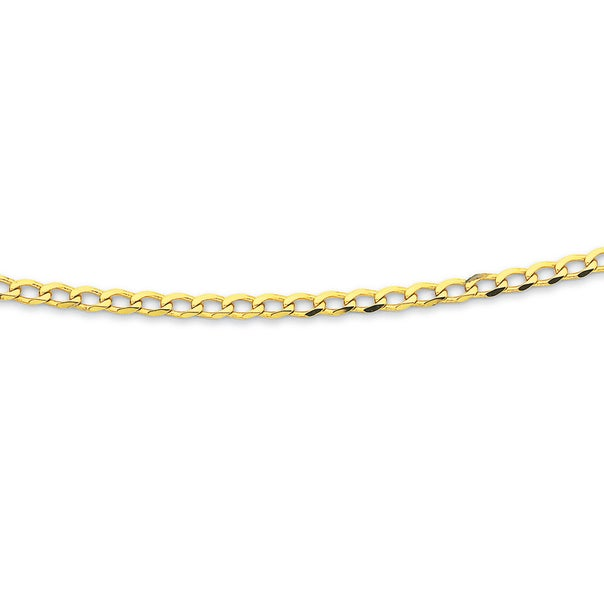 9ct 50cm Solid Curb Chain