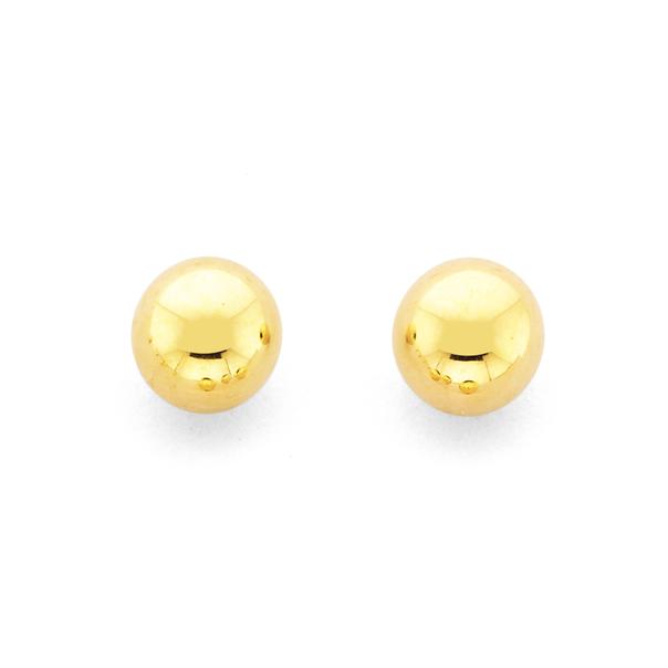 9ct 5mm Ball Stud Earrings