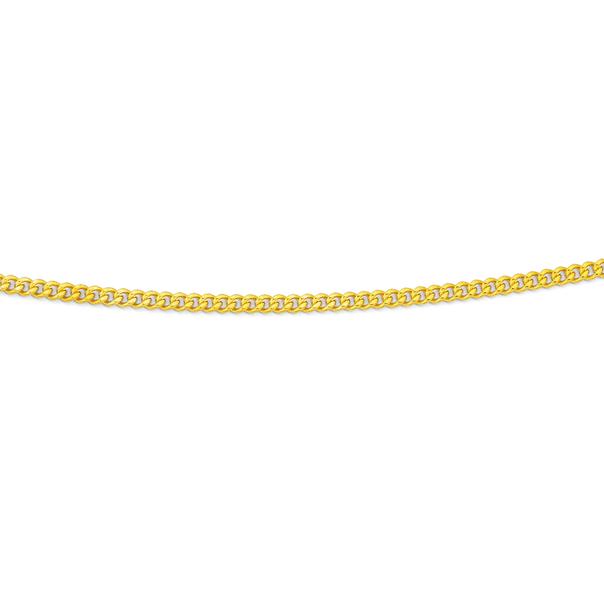 9ct 60cm Diamond Cut Curb Chain