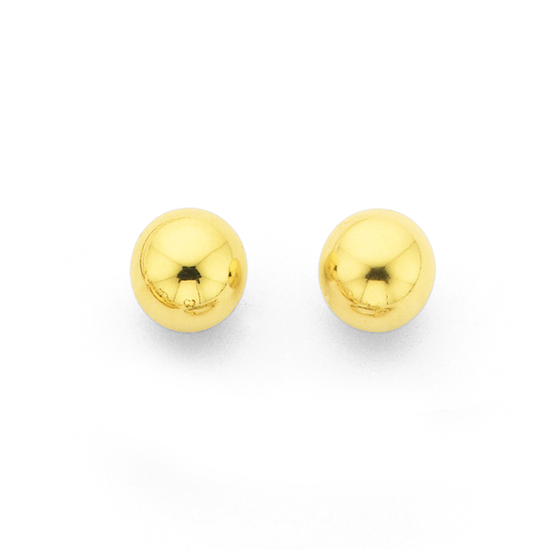 9ct 6mm Ball Stud Earrings