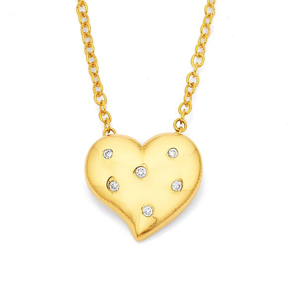 9ct, Diamond Pendant