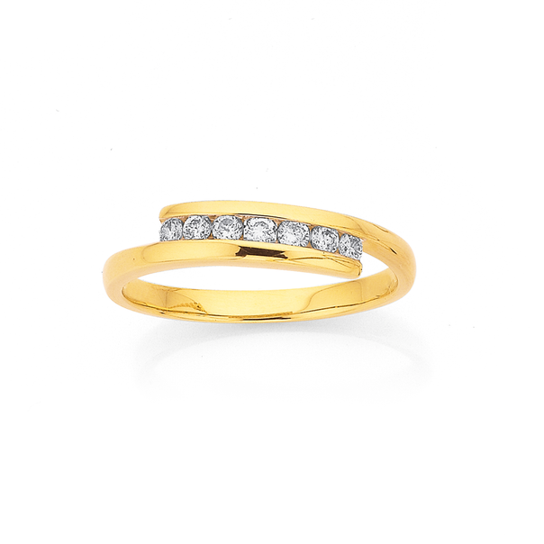 9ct, Diamond Ring TDW=.25ct