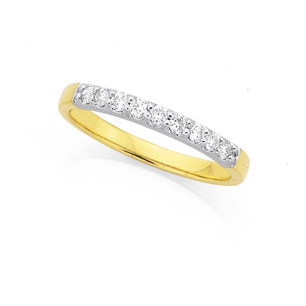 9ct, Diamond Ring Total Diamond Weight=.25ct
