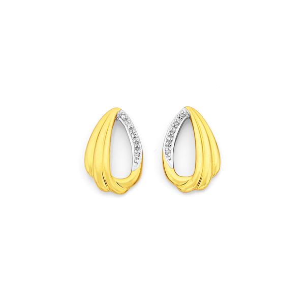 9ct, Diamond Set Earrings