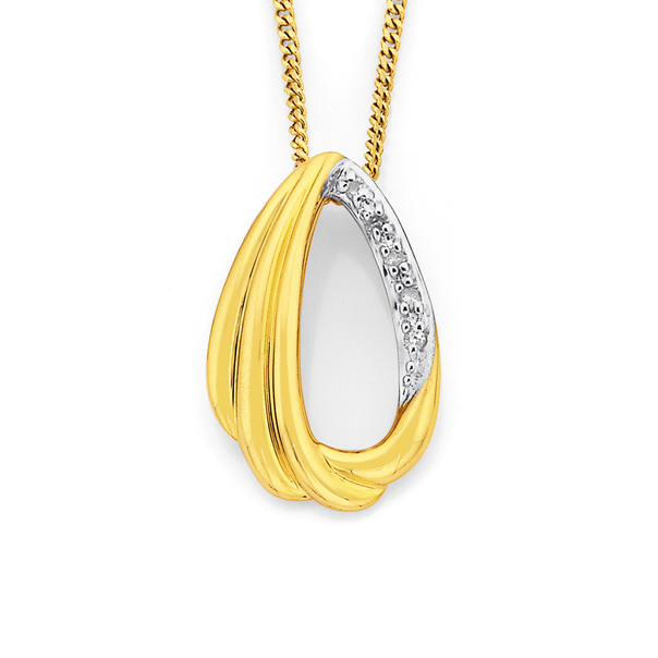 9ct, Diamond Set Pendant