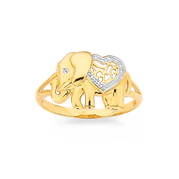 9ct Elephant Ring