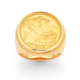 9ct Full 22ct Sovereign Gents Ring