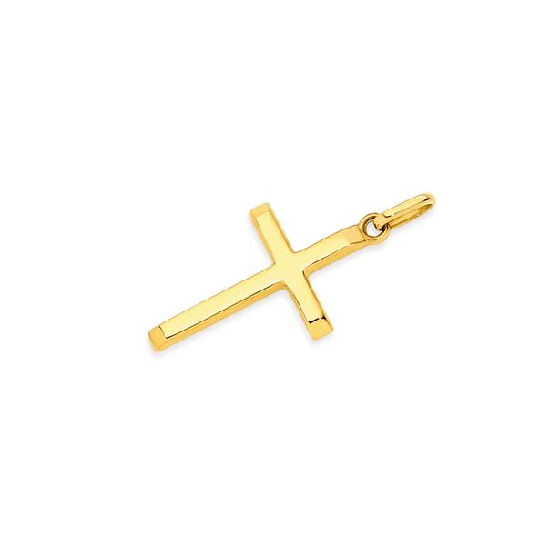 9ct Gold 20mm Plain Cross Pendant