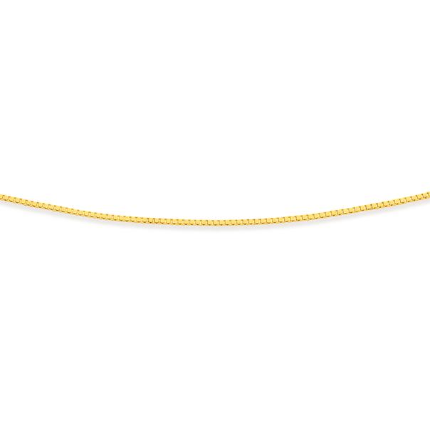 9ct Gold 42cm Solid Box Chain