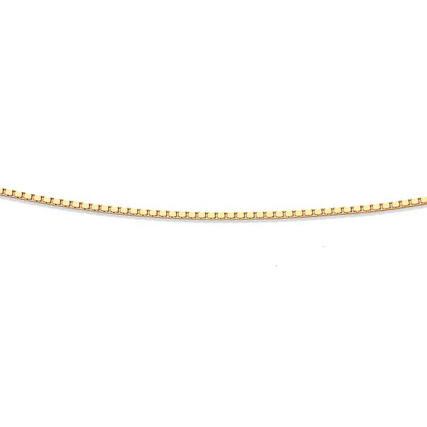 9ct Gold 45cm Solid Box Chain