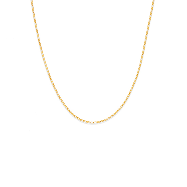 9ct Gold 45cm Solid Open Curb Chain