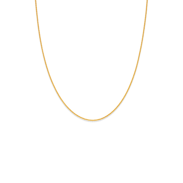 9ct Gold 45cm Solid Trace Chain