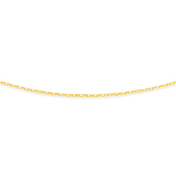 9ct Gold 50cm Oval Belcher Chain