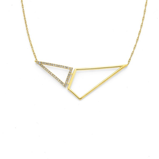 9ct Triangle Bar Necklet