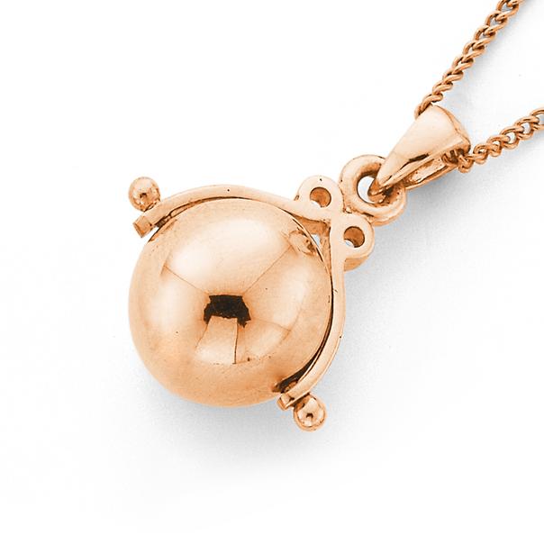 9ct Rose Gold 10mm Spinner Ball Pendant