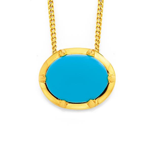9ct Turquoise Pendant