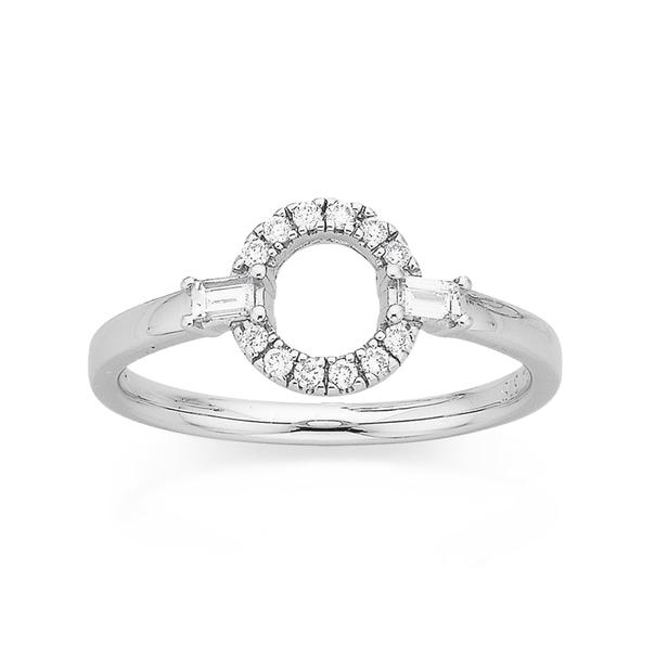9ct White Gold Diamond Ring Total Diamond Weight=.20ct