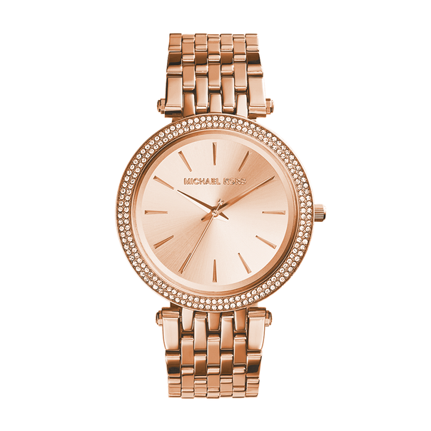 Michael Kors Ladies Darci Rose Gold Stone Set Watch