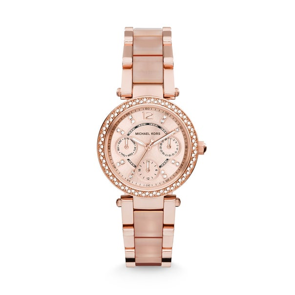 Michael Kors Rose Tone Mini Parker Watch