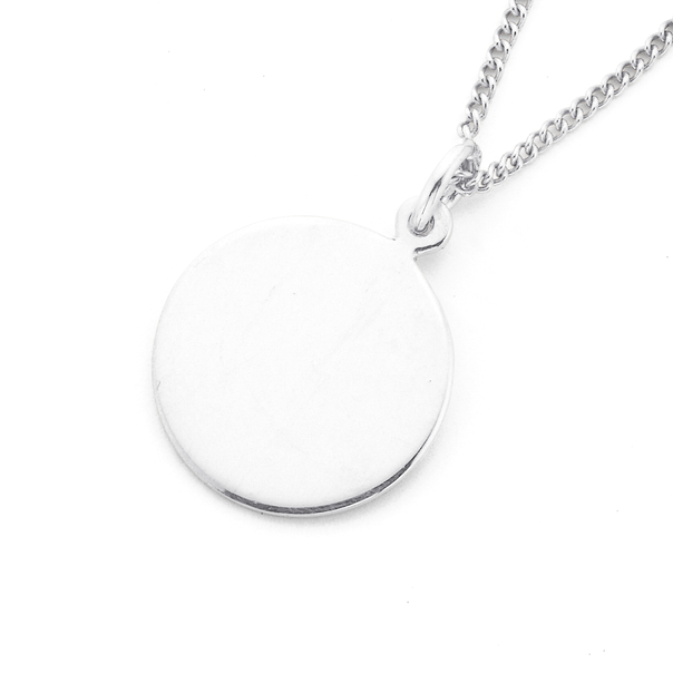 Sterling Silver 15mm Round Disc Charm