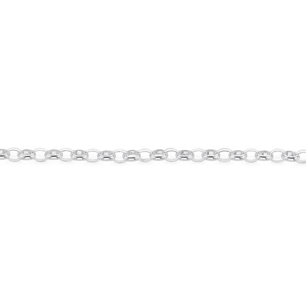 Sterling Silver 19cm Oval Belcher Bracelet