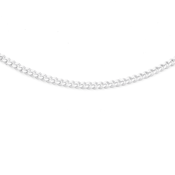 Sterling Silver 40cm Flat Curb Chain