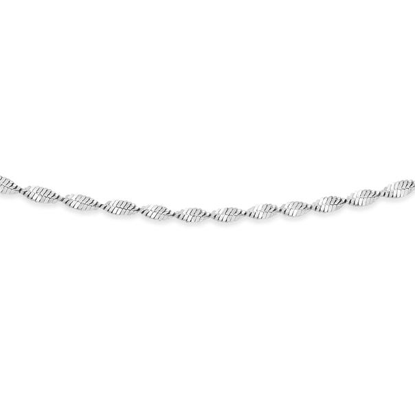 Sterling Silver 45cm Sparkly Twist Chain