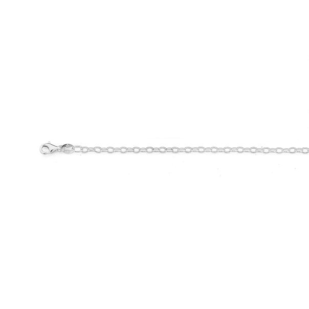 Sterling Silver 55cm Oval Belcher Chain