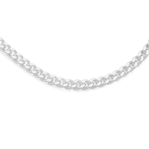 Sterling Silver 60cm Diamond Cut Curb Chain