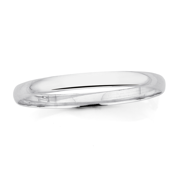 Sterling Silver 65mm Round Bangle