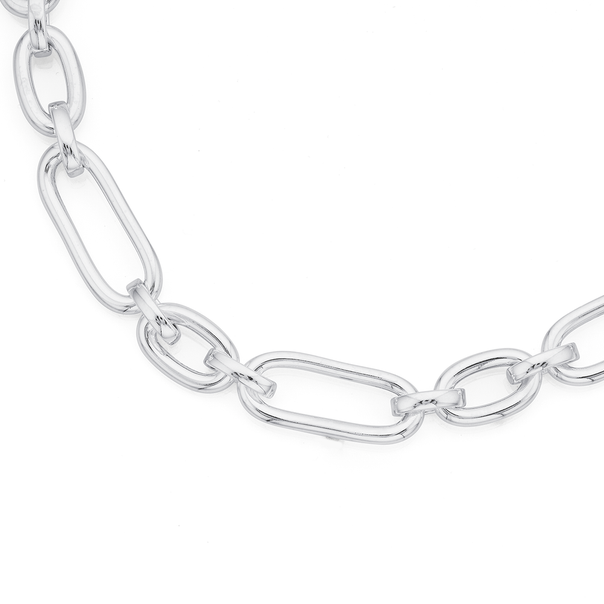 Sterling Silver Cable Necklet 50cm