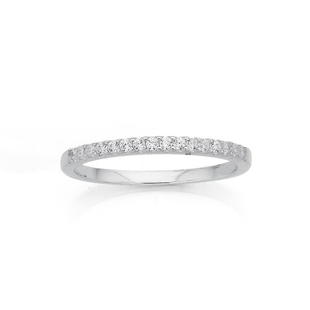 Sterling Silver Cubic Zirconia Set Ring