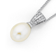 Sterling Silver Freshwater Pearl & Cubic Zirconia Pendant