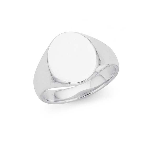 Sterling Silver Gents Signet Ring